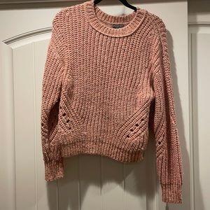 J Crew Point Sur Pink Rose Chunky Knit Sweater XXS